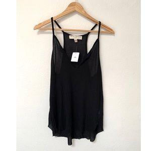 NWT OU Thin knit black Tank High neck Large